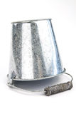 Galvanized bucket Royalty Free Stock Images