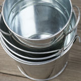 Galvanized buckets Royalty Free Stock Photography