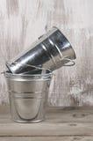 Galvanized buckets Stock Photography