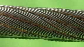 Galvanized cable Royalty Free Stock Photography