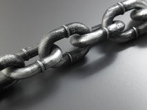 Galvanized chain Stock Photos