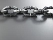 Galvanized chain Royalty Free Stock Image