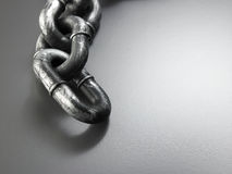 Galvanized chain Stock Photo