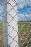 Galvanized Chain Link Fence Royalty Free Stock Photography