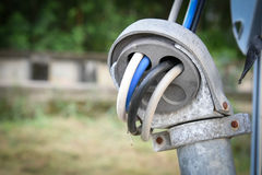 Galvanized conduit electrical junction pipe Stock Images