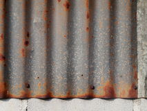 Galvanized corrugated metal sheet Royalty Free Stock Photo