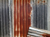 Galvanized corrugated metal sheet Stock Photography