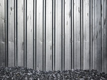 Galvanized fence of construction site Royalty Free Stock Image