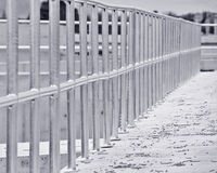 Galvanized fence Stock Photo