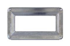 Galvanized frame Stock Photo