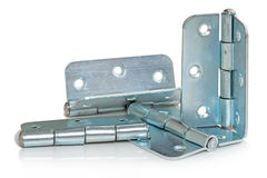 Galvanized Hinges Royalty Free Stock Photography