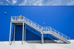 Galvanized Industrial Stairs Fire Escape Royalty Free Stock Images