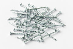 Galvanized iron nails Royalty Free Stock Photo