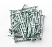 Galvanized iron nails Royalty Free Stock Images