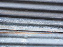 Galvanized iron. Old galvanized iron with small rust at the edge . use for background Stock Photos