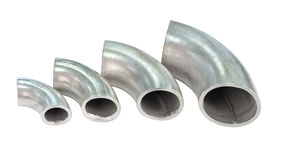 Galvanized iron pipe bends Stock Photography