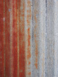 Galvanized iron roof plate background pattern Royalty Free Stock Images