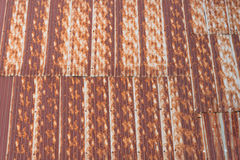 Galvanized iron rust roof Royalty Free Stock Images