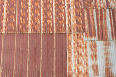 Galvanized iron rust roof Stock Photos