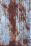 Galvanized iron with stain Stock Photography