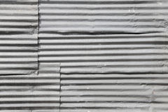 Galvanized iron steel plates Stock Images