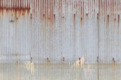 Galvanized iron steel plates with rust Stock Photos