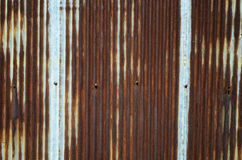 Galvanized iron wall Stock Image