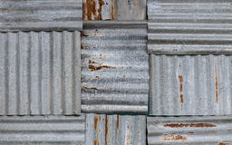 Galvanized iron wall Stock Image