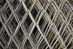 Galvanized mesh fence Royalty Free Stock Photos