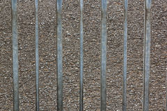 Galvanized Metal Gate and Asphalt Tar Texture Background Royalty Free Stock Image