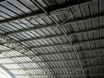 Galvanized metal roof Royalty Free Stock Images