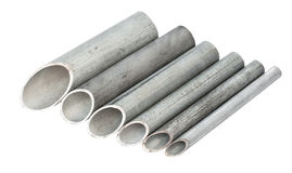 Galvanized pipe Stock Image
