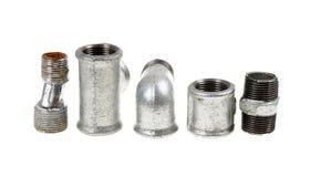 Galvanized plumbing parts Stock Photography