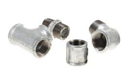 Galvanized plumbing parts Royalty Free Stock Image