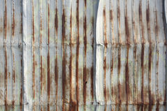Galvanized sheet used as wall at old town. Songkhla Thailand Royalty Free Stock Photos