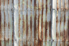 Galvanized sheet used as wall at old town. Songkhla Thailand Royalty Free Stock Image