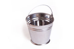 Galvanized steel bucket Stock Photos