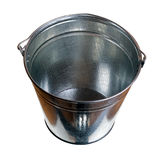 Galvanized steel bucket. Isolated on white background Royalty Free Stock Image