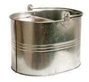 Galvanized Steel Bucket (Inc Clipping Path) Royalty Free Stock Image