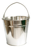 Galvanized Steel Bucket (Inc Clipping Path). Galvanized steel bucket shot on a white background, includes Clipping Path Stock Images