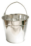 Galvanized Steel Bucket (Inc Clipping Path). Galvanized steel bucket shot on a white background, includes Clipping Path Royalty Free Stock Photography