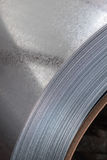 Galvanized steel coil close up Royalty Free Stock Image