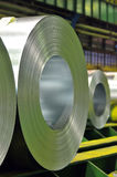 Galvanized steel coil Stock Images