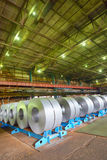 Galvanized steel coil Royalty Free Stock Image