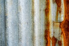 Galvanized steel fence rust and corrosion. Galvanized steel fence rusted and corrosion royalty free stock images
