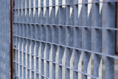 Galvanized steel fence Stock Images