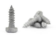 Galvanized steel lag bolts Stock Photos