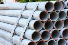 Galvanized Steel Pipe Stock Image
