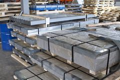 Free Galvanized Steel Sheets In Packs Stock Images - 128696304