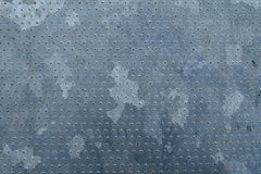 Galvanized steel texture. Galvanized steel with dots pattern Stock Photo